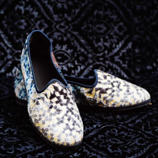 slipper mosaic woman nicolao atelier venice