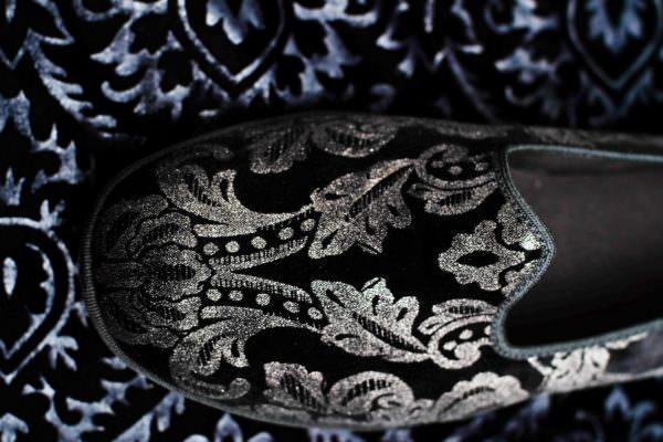 slipper black silver woman nicolao atelier venice 1