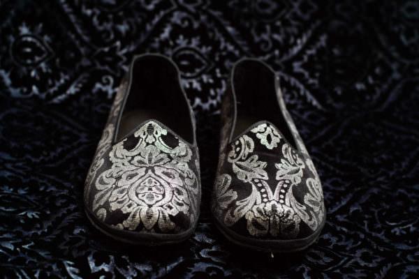 slipper black silver woman nicolao atelier venice 2
