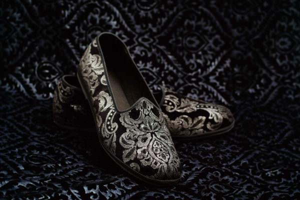 pantofola nero argento donna nicolao atelier venezia 5