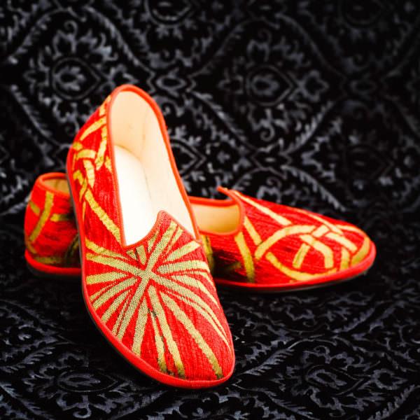 pantofola oro rosso uomo nicolao atelier venezia