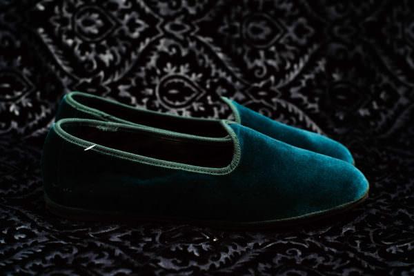 teal slipper woman nicolao atelier venice 1