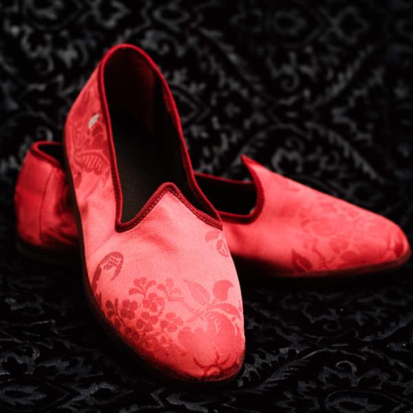 pantofola rosso donna nicolao atelier venezia