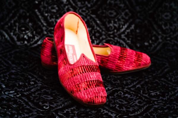 pantofole rosse uomo nicolao atelier venezia