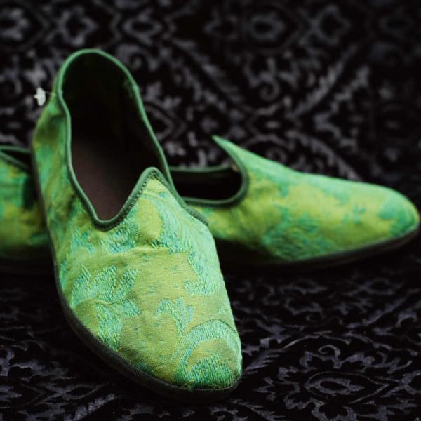 pantofole verde donna nicolao atelier venezia