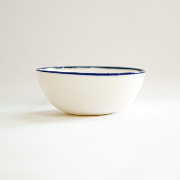 ciotola media porcellana atelier daniela levera blu