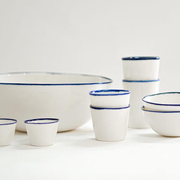 set ceramica atelier daniela levera blu