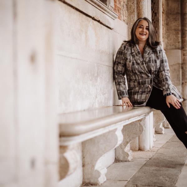 Giacca elegante in pura lana e vetro di Murano ca beltà venezia