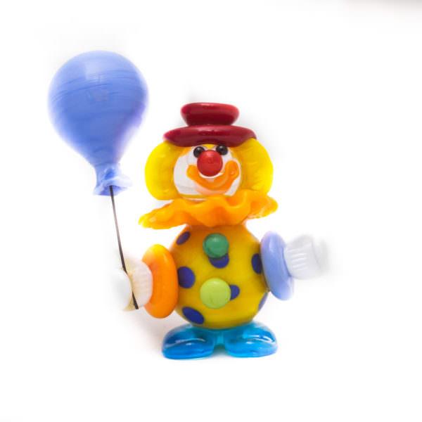 Pagliaccio con palloncino lillla - Mauro Bon