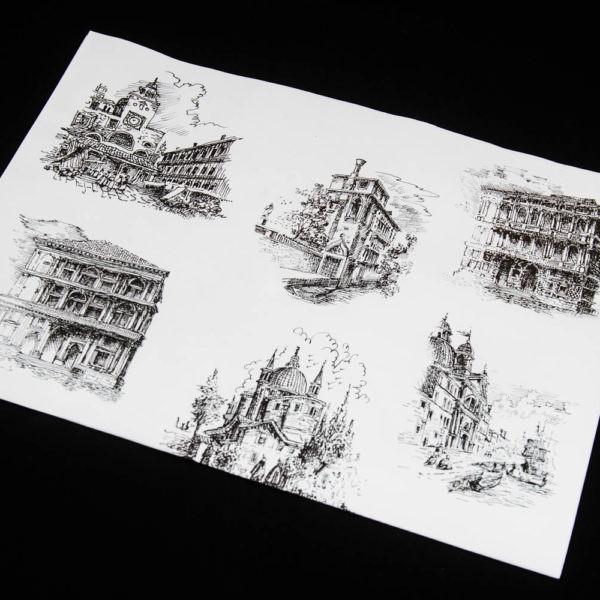 Gift paper sheet Fallani Venice
