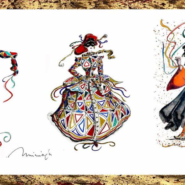 tre maschere veneziane - venicegallery