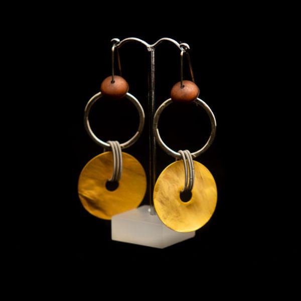 orecchini argento acciaio ottone