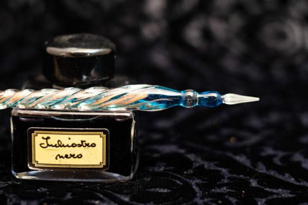 penna in vetro di murano scriba