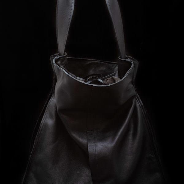 borsa in pelle c+una